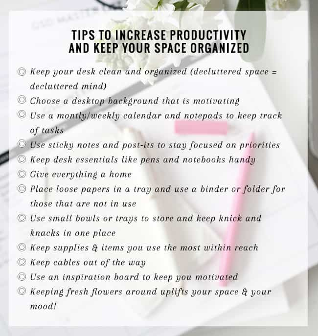 12 Tips on How to Be More Productive