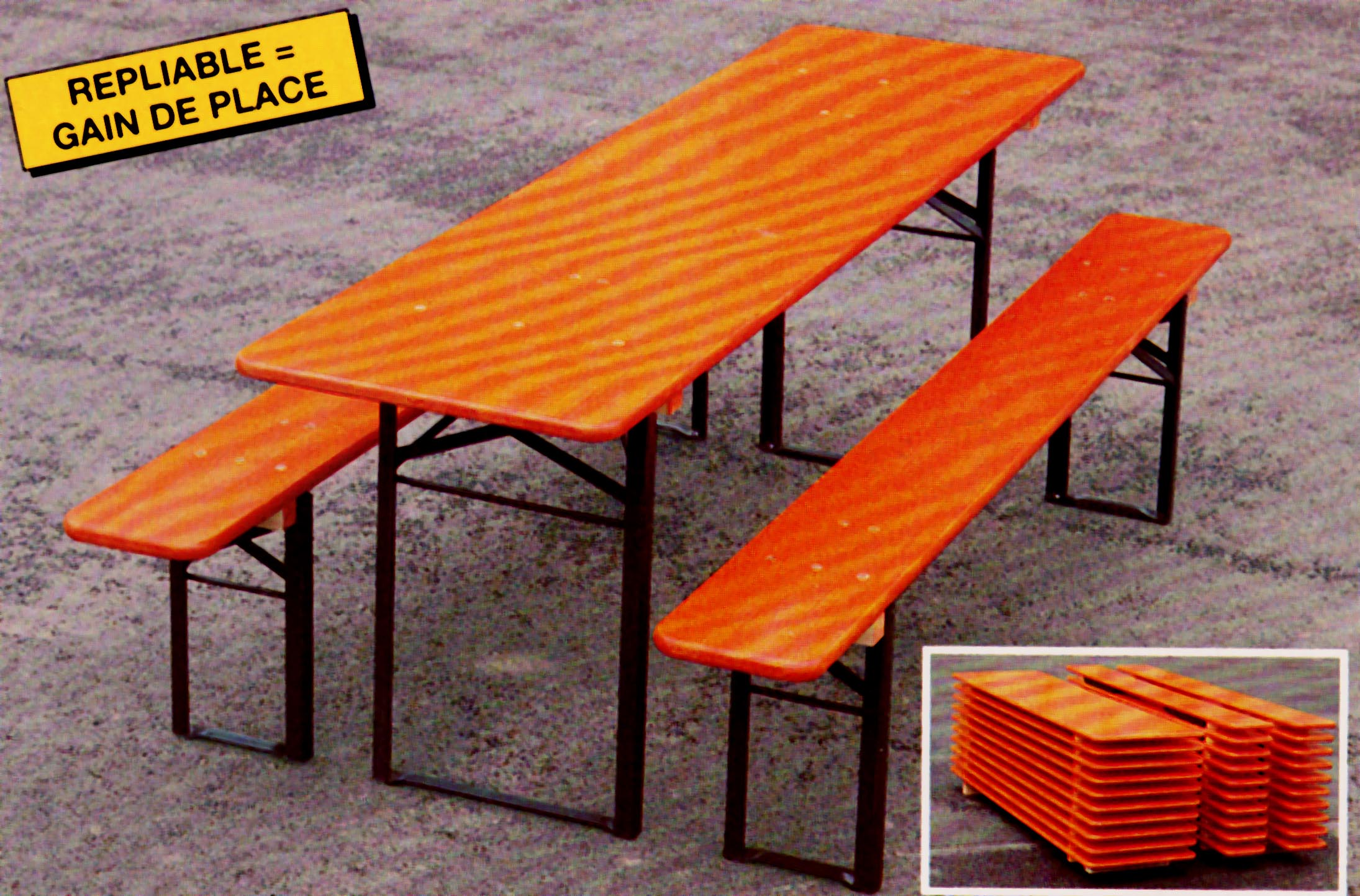 Table Pliante Et Banc Tables Et Bancs Pliants