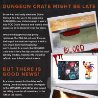 Loot Gaming May 2016 Dungeon Crate Delay