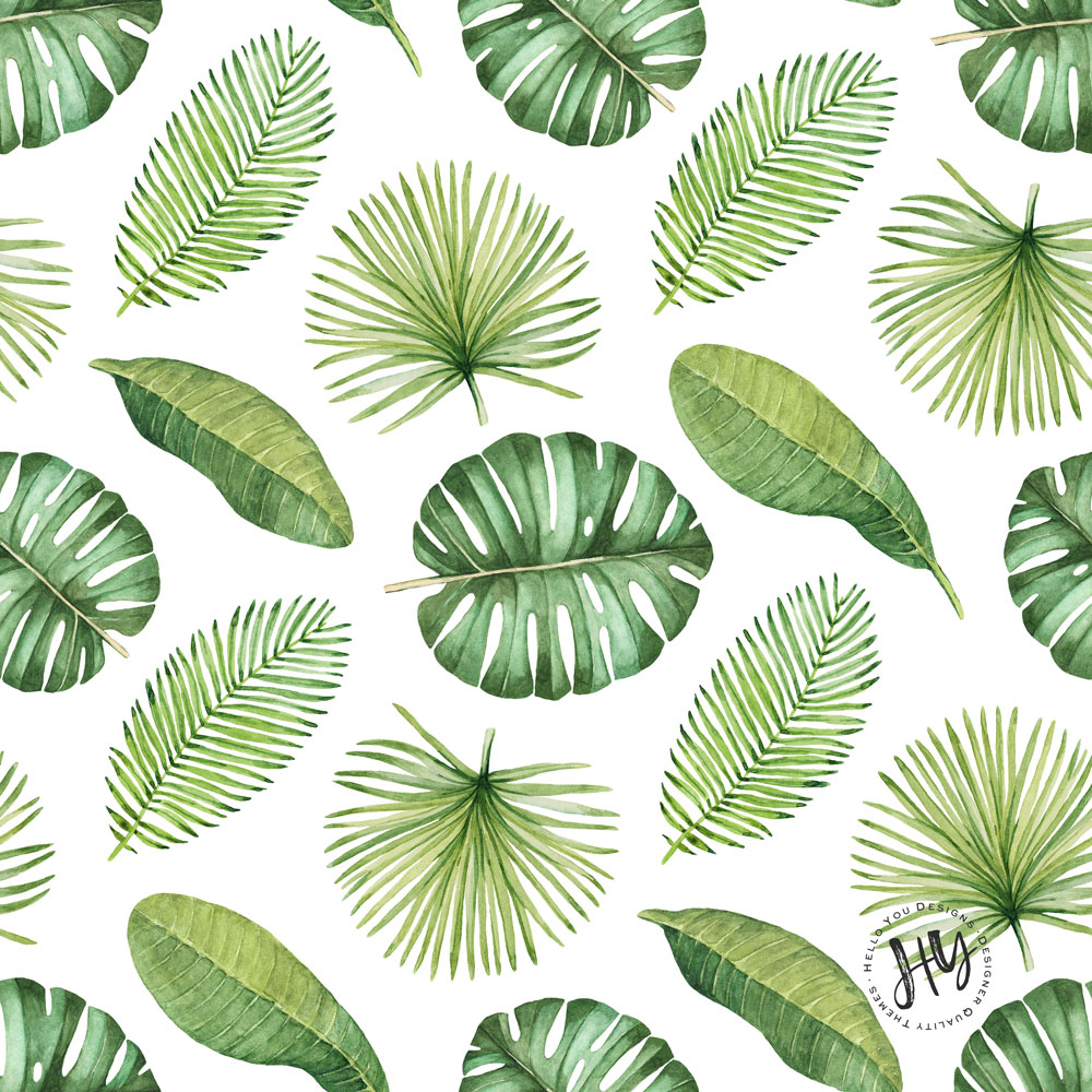 Inspiring Quotes Iphone Wallpaper Tropical Leaf Pattern Freebie Hello You Designs