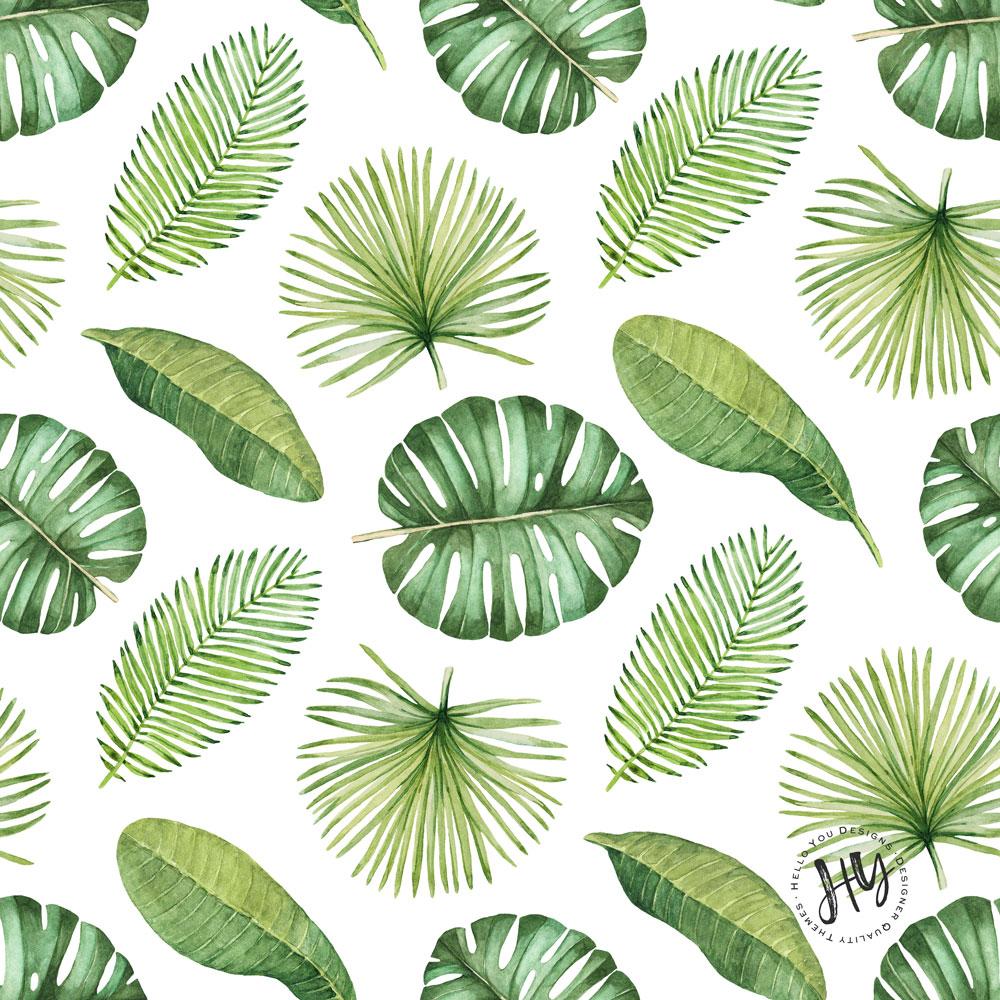 Floral Print Iphone Wallpaper Tropical Leaf Pattern Freebie Hello You Designs