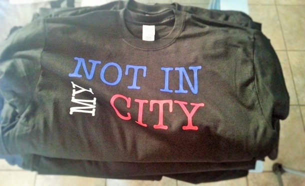 Not In My City T-Shirt  By JWear