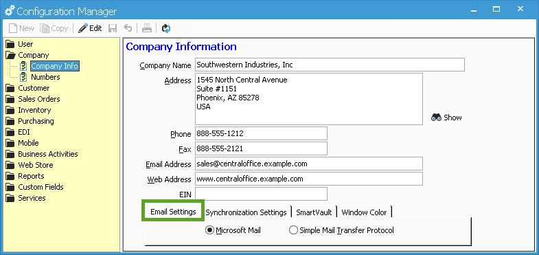 Email options and features in Acctivate Acctivate Help