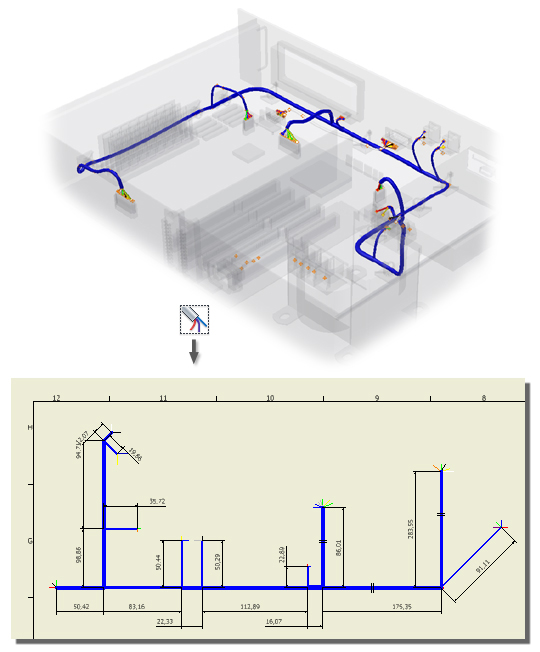 Nailboard environment in cable and harness Inventor Products