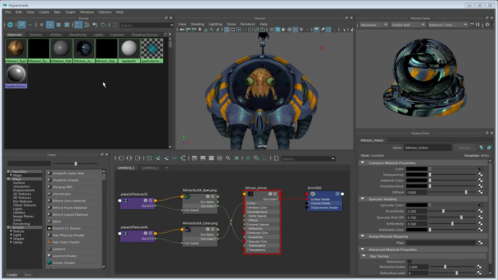 3d Texture Map A 2d Or 3d Texture To A Material Maya 2018 Autodesk
