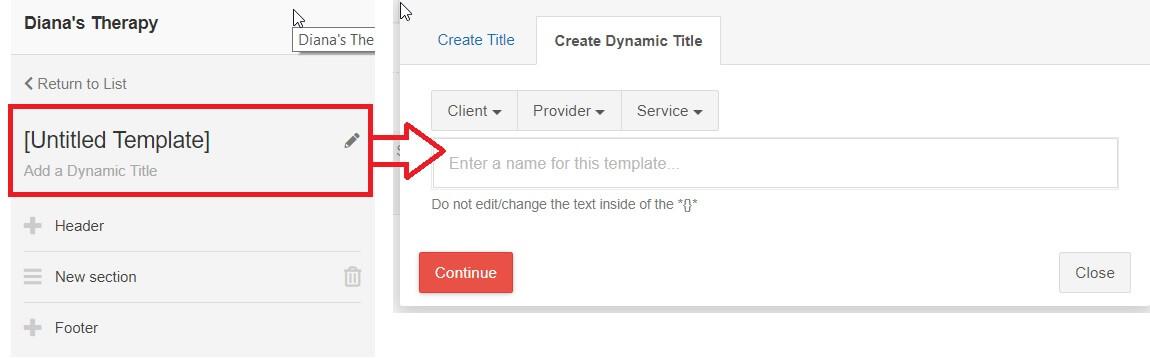 Create a Note  Form Template \u2013 CentralReach Help  Support