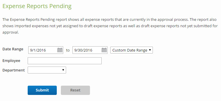 Expense Reports Pending \u2013 Certify Help Center