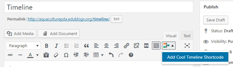 Cool Timelines Plugin \u2013 Edublogs Help and Support