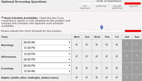GH Enable or Disable Application Work Schedule Availability