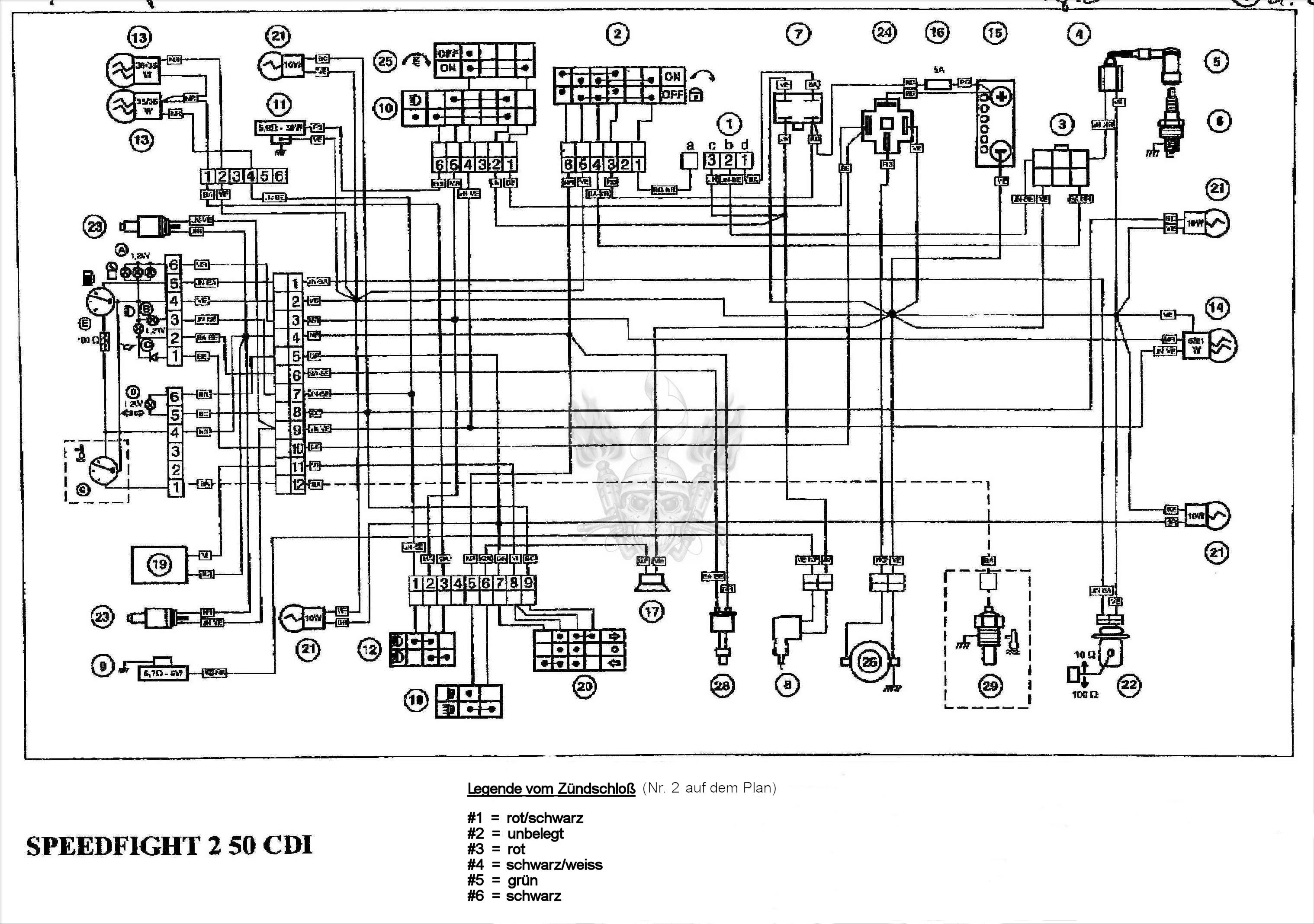 peugeot speedfight 50 wiring diagram