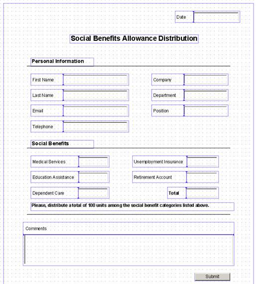 Designing the Form Template Layout (SAP Library - CAF Guided Procedures)