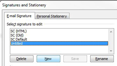 How to add your Email Signature in Outlook - Simpsons Creative Help