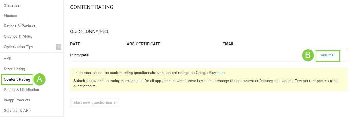 Take Google Play\u0027s App Rating Questionnaire \u2013 Help Center