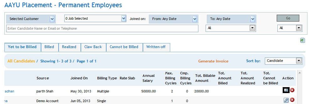 How to Generate Invoice and Manage Payment ? - help@talentnow