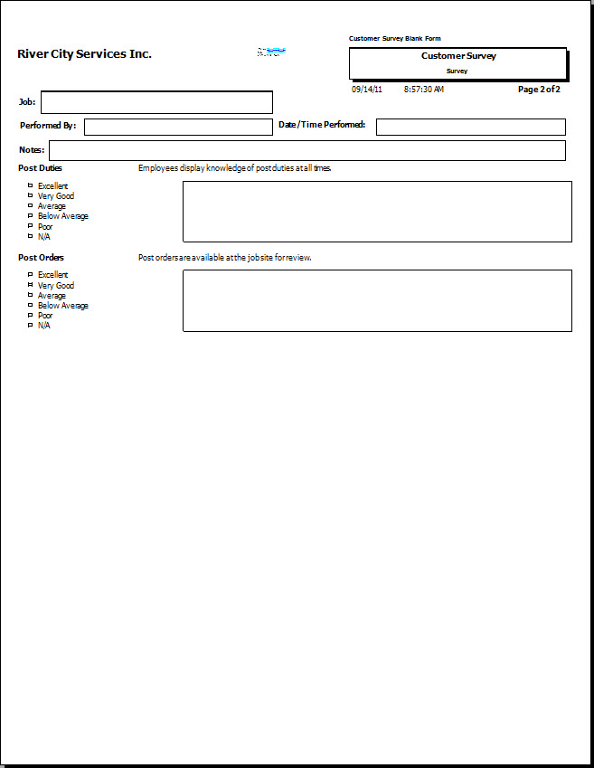 Generating Blank Checkpoint Surveys
