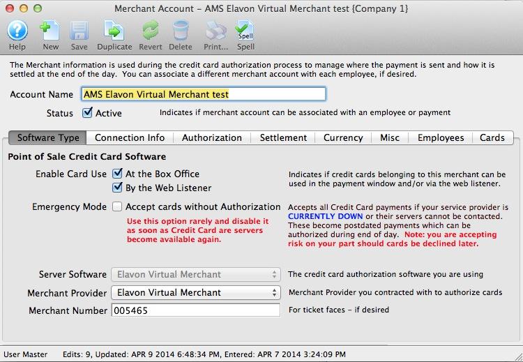 Credit Card Authorization