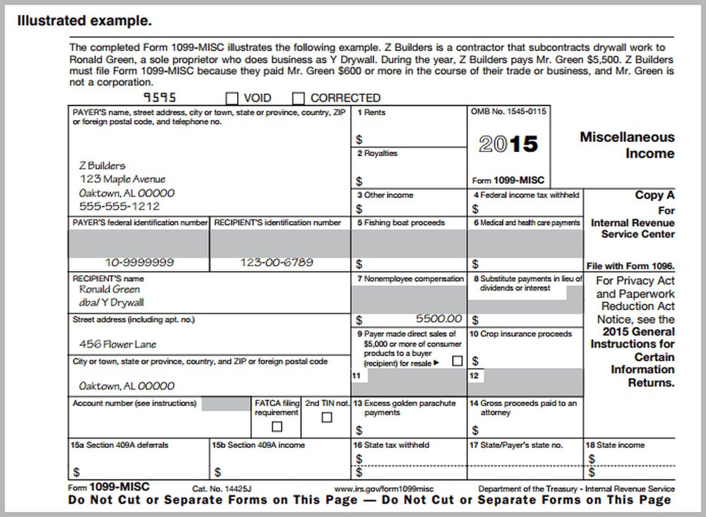 Printable 1099 Misc Form Gallery Free Form Design Examples