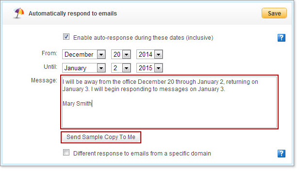 how to create an automatic email response in outlook 2007