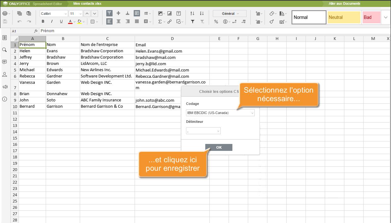 comment separer un fichier cvs