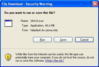 File Download dialog box