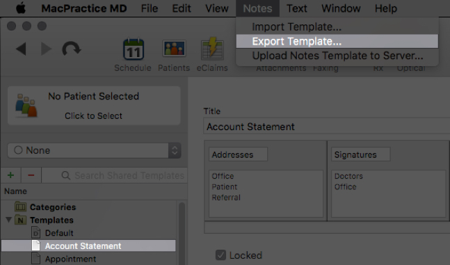 Notes - Template Basics \u2013 MacPractice HelpDesk - Patient File Template