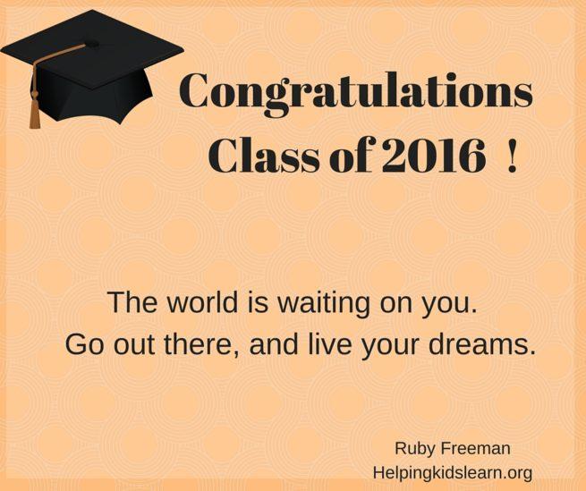 Congratulations Graduates helpingkidslearnorg