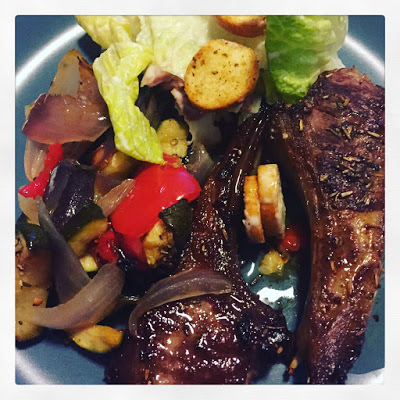 Lamb, Baked Vegetables & Side Salad