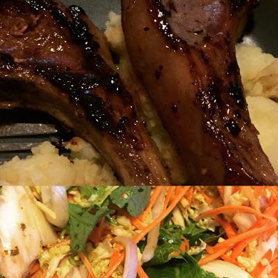 Mash, Salad & Lamb Cutlets