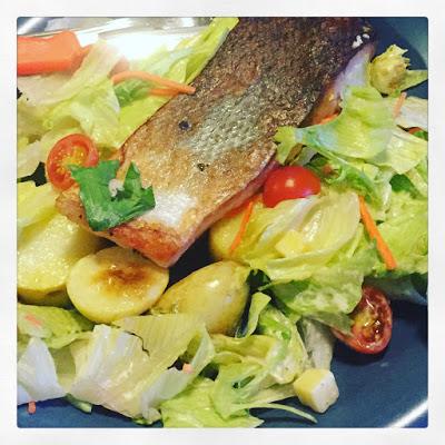 Atlantic Salmon with Baby Potatoes & Garden Salad