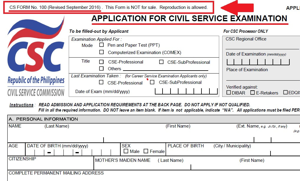 Admission Requirements - Help me to pass the exam! - civil service exam application form