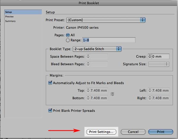 Printing Booklets (Mac) - InDesign - Help Wiki