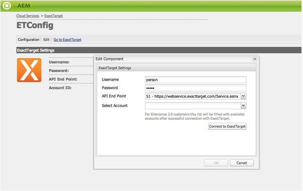 Integrating with ExactTarget