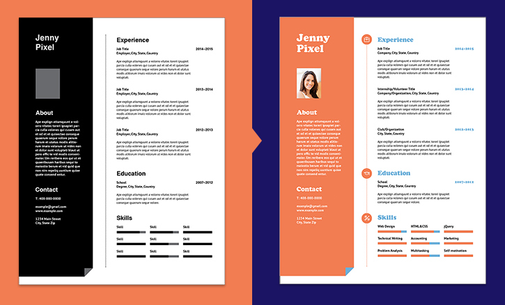 exemple cv avec indesign