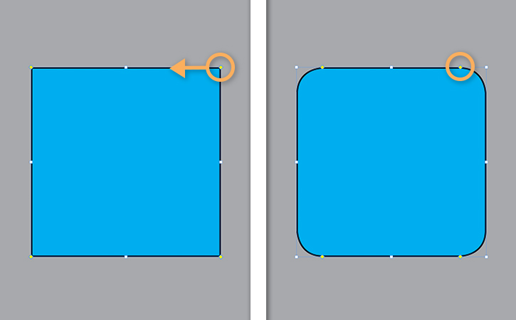 How to round the corners of a square, rectangle, or frame in