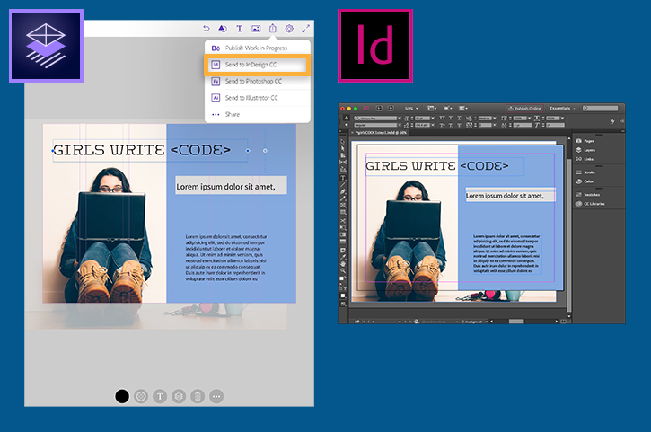 How to make a flyer on the go Adobe Comp CC tutorials - how to make online flyers