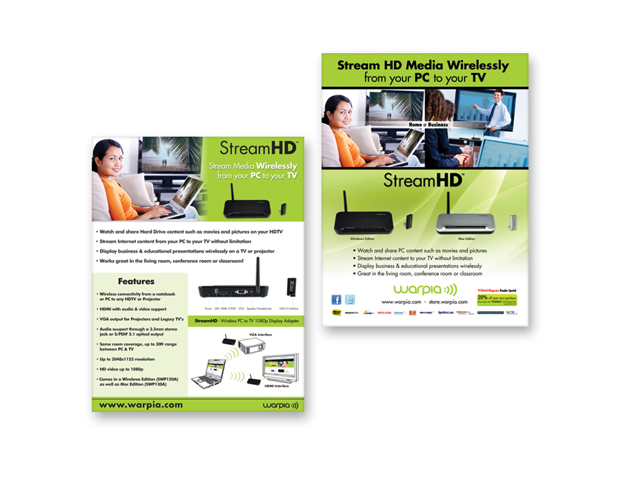Warpia - Marketing Materials - Henderson Design LLC - web flyer