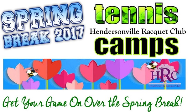 HRC Offers Two Spring Break Youth Tennis Camps 3/28-30 & 4/18-20
