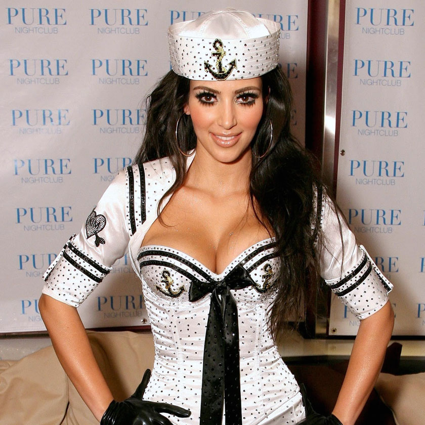 Kim amp khloe kardashian are all for the sexy sailor outfit