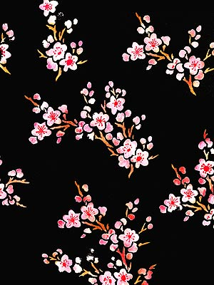 Black Wallpaper Border Small Blossom Theme Pack Stencil Henny Donovan Motif
