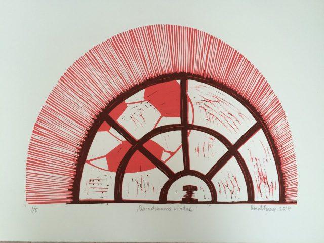 Linoliumstryk af Henirk Bruun