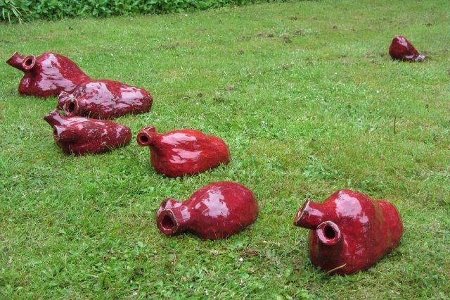 Hjerter af Henrik Bruun, glaseret lertøj, 2015