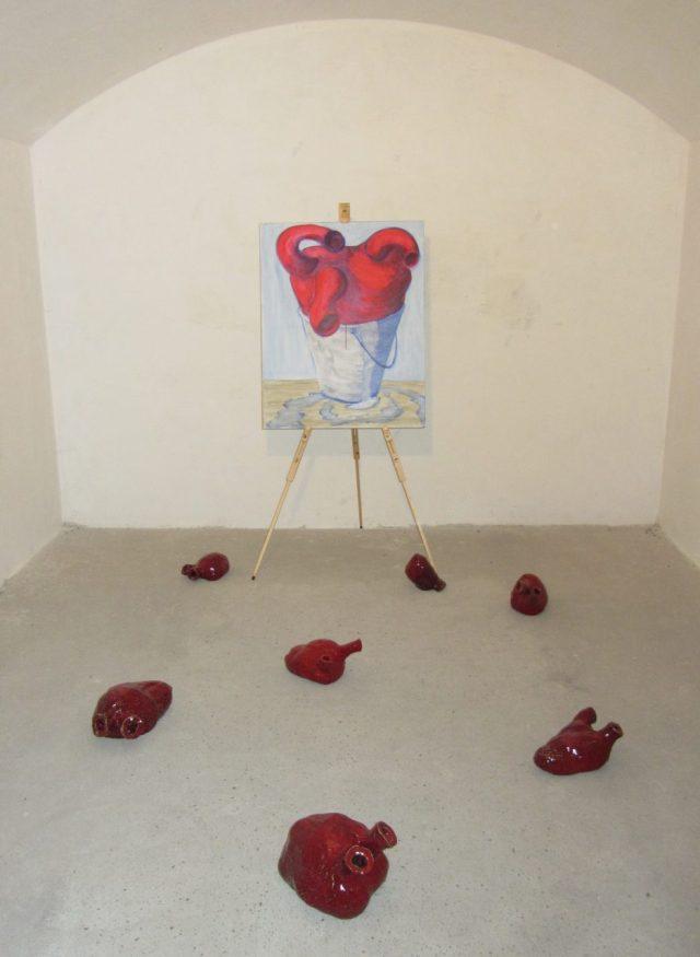 Hjertenes flugt af Henrik Bruun, installationsview, Masnedø Fortet, 2015