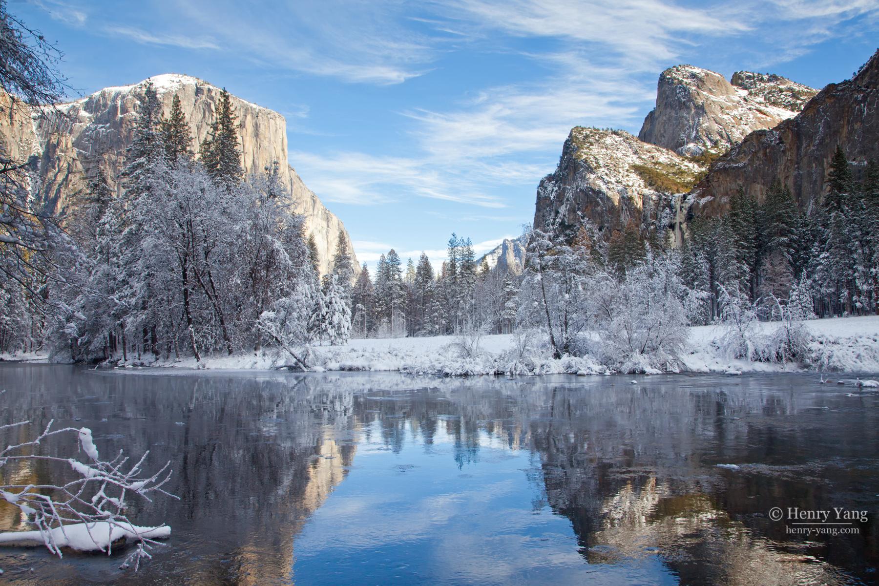 3d Wallpaper Nature Flowers Winter Scenes Yosemite National Park California