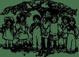 Children under a tree
