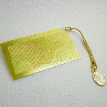ヘビの抜け殻のお守りカードサイズ