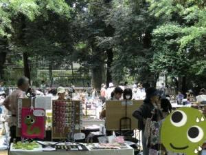 青空個展 赤坂てづくり市201107