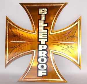 billet_proof_cross Special Pinstriping & Sign Painting Projects by Herb Martinez, Livermore, CA. Serving the San Francisco Bay area.