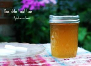 Make this rose water facial toner at home.