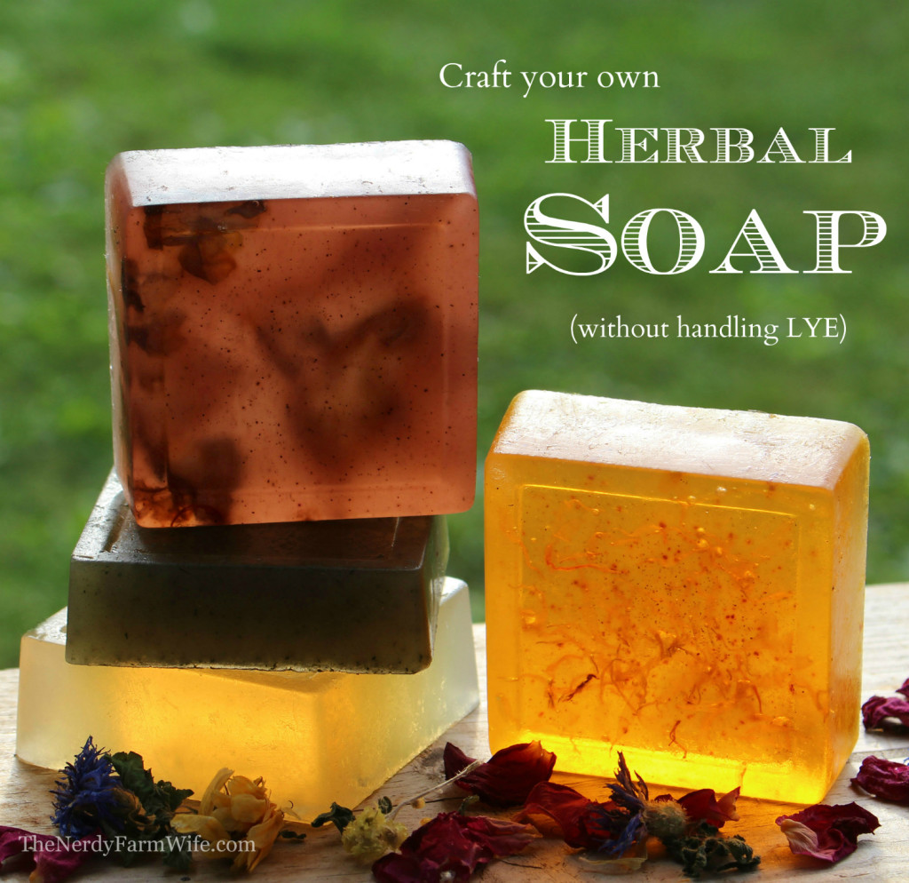 Diy Soap Without Glycerin How To Make Herbal Soap Without Lye