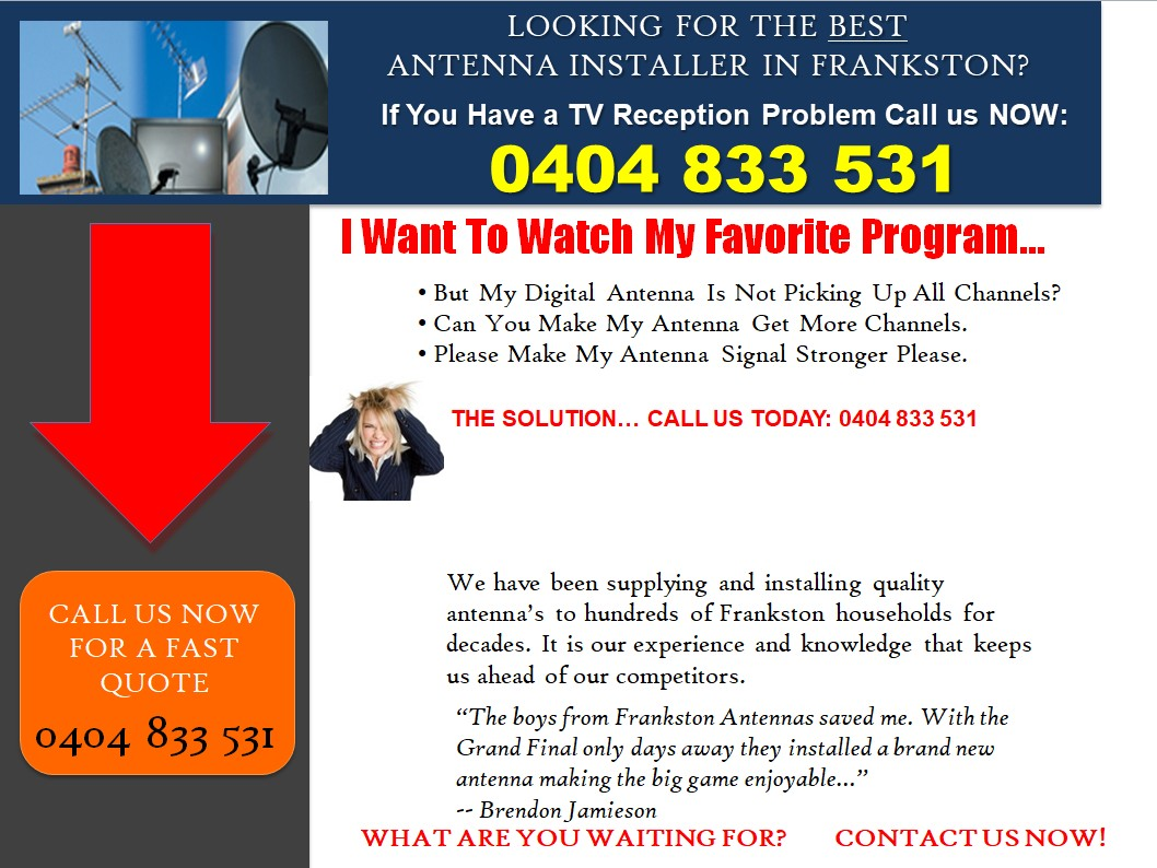 Tv Installation Melbourne Tv Antenna Installer Melbourne Cranbourne